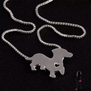 October Love Jewelry - Silver-Plated Doxie Necklace