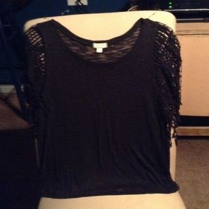 Free People Tops - BOHEMIAN SOFT SWEATER TOP W/FRINGED SLEEVES NEW***