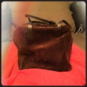Bally Handbags - BALLY suede brown cube bag