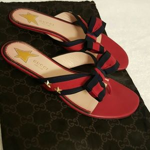 e9fff9cd273 Gucci Jackets   Coats - Gucci  Aline  Bow Thong sandal-Made ...
