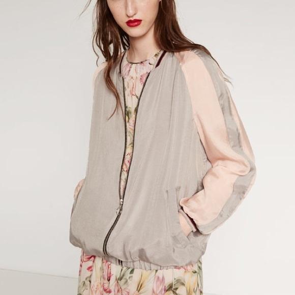 1cdbf1233 Two tone bomber jacket -- Zara small NWT