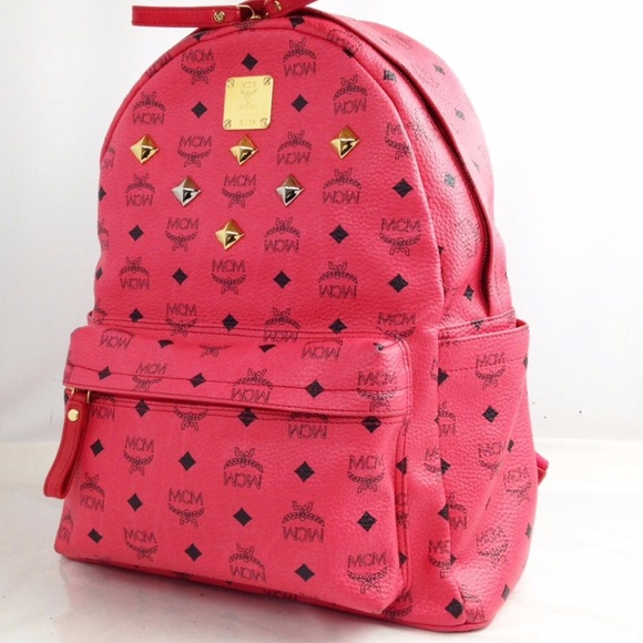 MCM Bags | Pink Studded Backpack Flash Sale