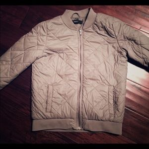 Forever 21 zipped fitted quoted jacket