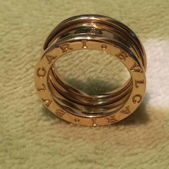 bvlgari ring size 8 750 k18 japan gold