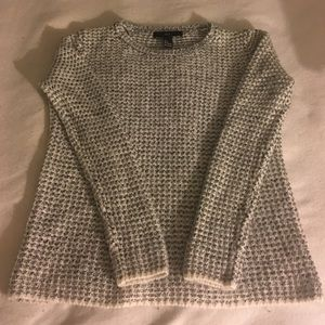 Black and White Forever 21 Knit Sweater