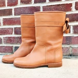 See by Chloe Shoes - SEE BY CHLOE Tan Leather Boots