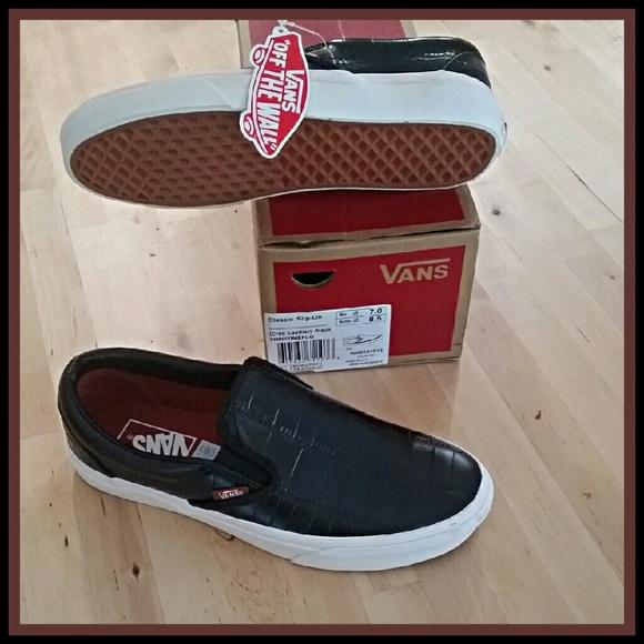 064fec9277 Black Croc Classic Slip On
