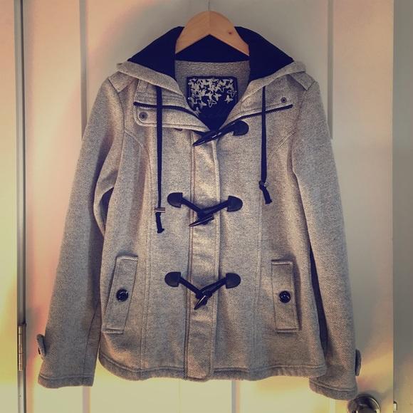 6325348aa7668 ⚡️Sebby Hooded Grey Jacket. M 5818a5d66d64bca2c101607c