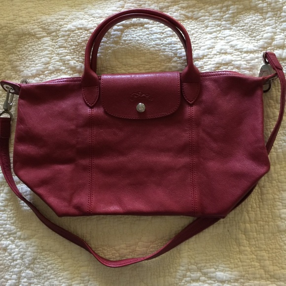 Longchamp le pliage cuir leather bag SALE❄ ❄️