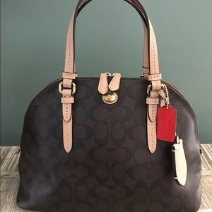 Coach Peyton Cora Signature Domed Satchel