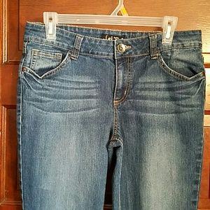 l.e.i. Denim - L.e.i. Sophia Hippie Flared Boho Jeans Juniors 11