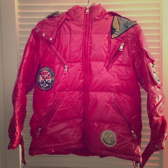 2a6342075 Moncler Shiny Red Hooded Puffer Jacket XL Kids. M_5818b1ac7f0a05b8a001784b