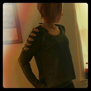 Material Girl Tops - Oversized glamour shirt