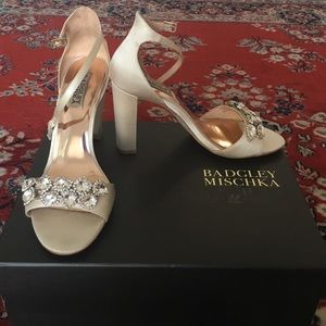 42274eaeb0d0 Badgley Mischka Shoes - Badgley Mischka Lennox wedding shoes size 7