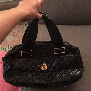 Marc Jacobs Quilted Patent Leather Handle bag