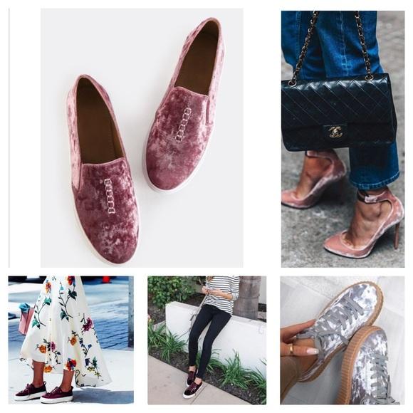 5bf7d899546f 🎉SALE🎉NIB Crushed Velvet Slip on Shoes