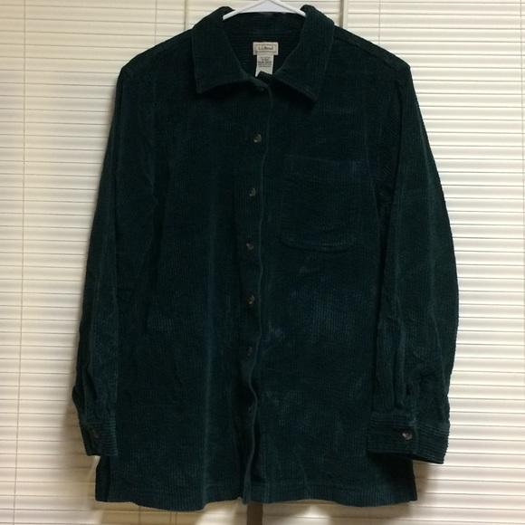 f082586243a L.L. Bean Tops - L.L. Bean Comfort Corduroy Big Shirt