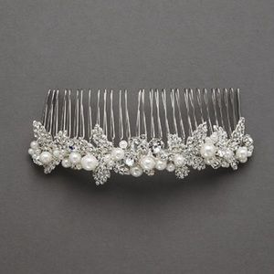 New embellished Crystal and Pearl Comb