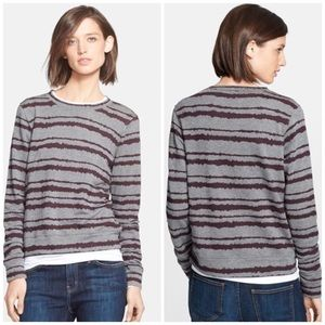 A.L.C. Sweaters - ALC Printed Striped Sweatshirt