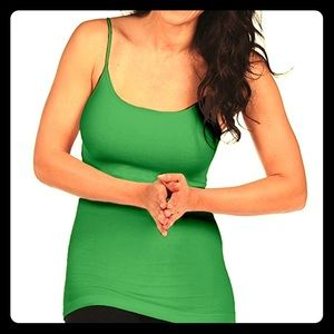 Tees by Tina Tops - NWT Tees by Tina calypso green solid camisole