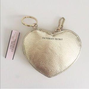 NEW Victoria's Secret Metallic Coin Pouch Keychain