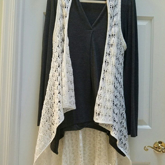 78% off Charming Charlie Sweaters - VERY LONG cream colored ...