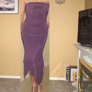 Purple mermaid/tube dress