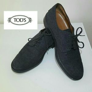 Tod's Shoes - WinterEndSALE !! Tod's WORN ONCE wool oxford shoes
