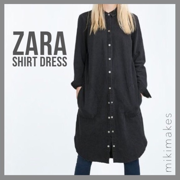 3428870a ZARA • raw edge fade black long button up shirt. M_5913ea87fbf6f92eba015b37