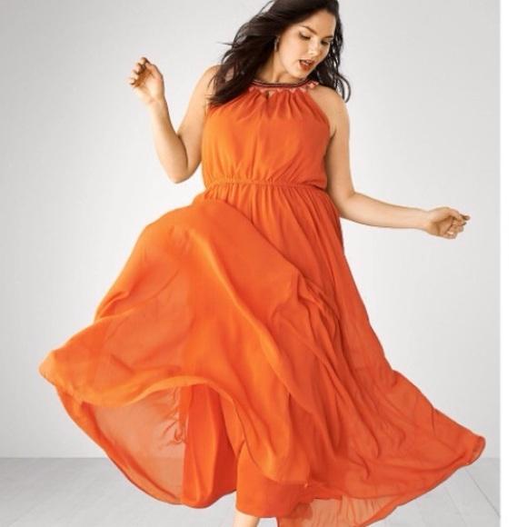 Size 24 chiffon maxi dress