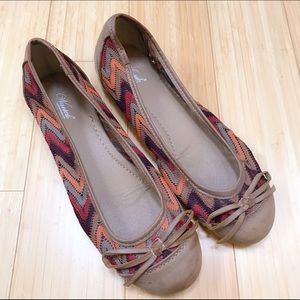 Wanted Shoes - Ladies chevron flats, 8.