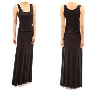 PattyBoutik Dresses & Skirts - PattyBoutik Sleeveless Blouson Maxi Dress