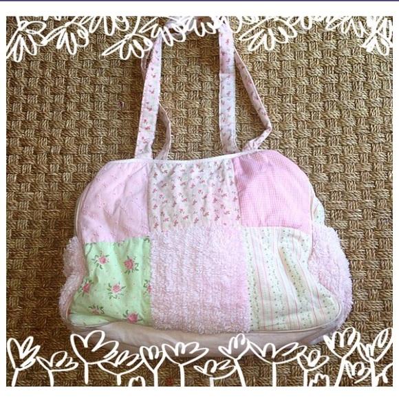 baby essentials accessories pink green shabby chic diaper bag rh poshmark com