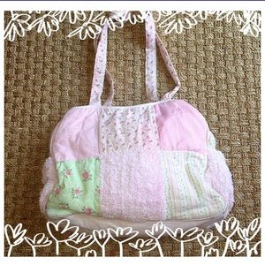 Baby Essentials Other - Baby Essentials Pink Green Shabby Chic Diaper Bag