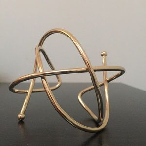 ASOS Abstract wire cuff bracelet, Gold
