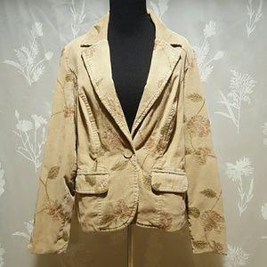 Monsoon Jackets & Blazers - Monsoon corduroy embroidered jacket