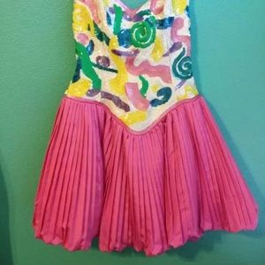 """Dresses & Skirts - STUNNING SILK SEQUIN PARTY DRESS BY """"After 5"""""""