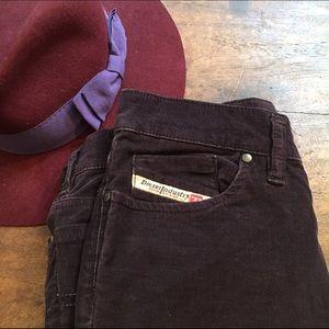 Diesel Pants - Diesel purple velvet pants