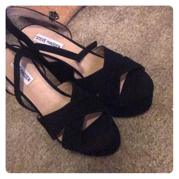 Steve Madden Shoes   Westii Black Suede