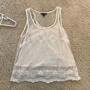 American eagle lace tank top size xs