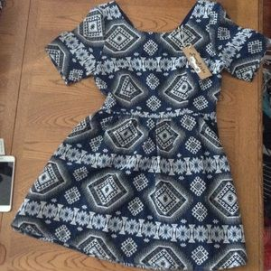 Love Riche Dresses & Skirts - NWT Love Riche Aztec Design Dress Blue Medium