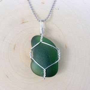 NJ Sea Glass Pendant