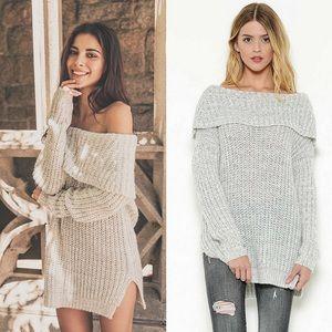 🎉🎉HP🎉🎉🆕Off the Shoulder Sweater w Side Slits