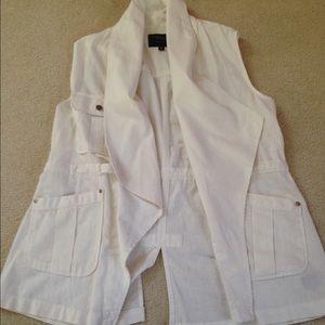 Sanctuary Jackets & Blazers - Final price NWOT White vest!!