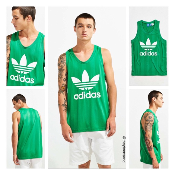 e029a18ab1004 adidas Green Trefoil Men s Tank Top