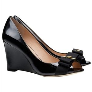 Sold Tory Burch Trudy black wedges