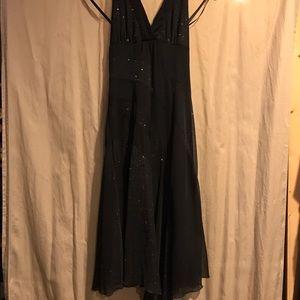 Dresses & Skirts - Asymmetrical halter black dress