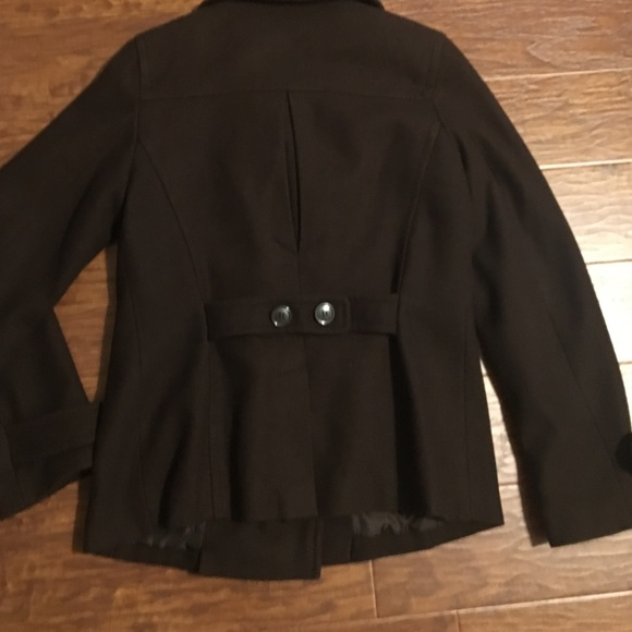 72% off giacca Jackets & Blazers - Chocolate brown wool pea coat ...