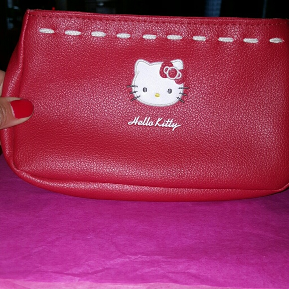 982eb17327 Hello Kitty Handbags - Red Hello Kitty Small purse cosmetic bag (New)