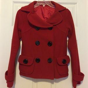 Jackets & Blazers - Red Fleece Coat